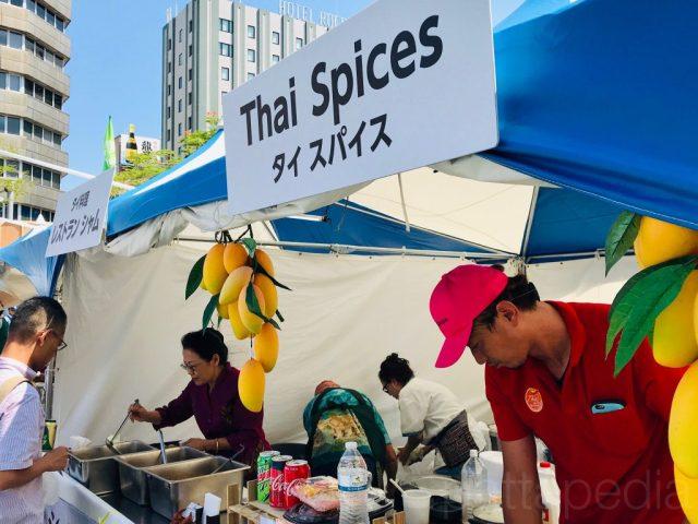 タイ料理提供のブース