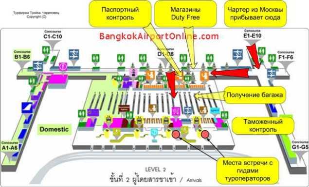 аэропорт Бангкока Таиланд. Где встреча с гидом