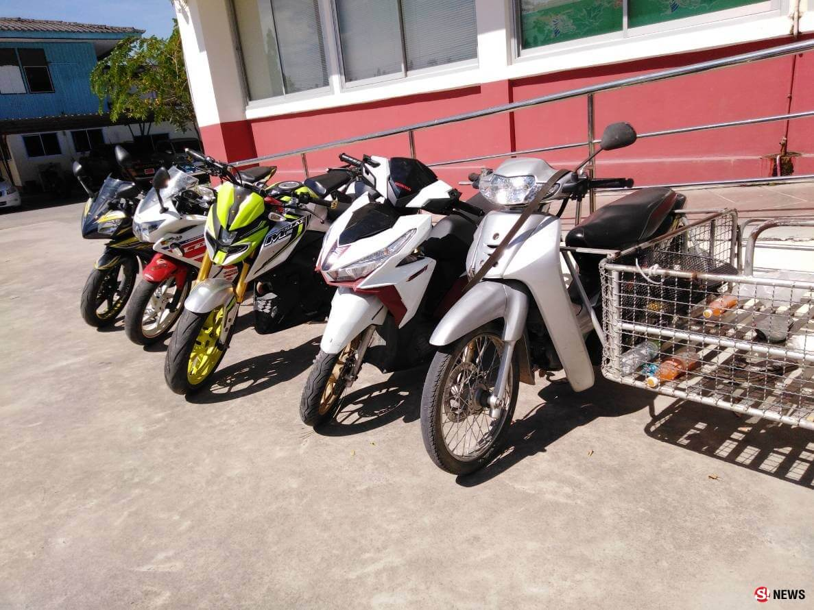 Cambodian gang stealing motorcycles in Rayong