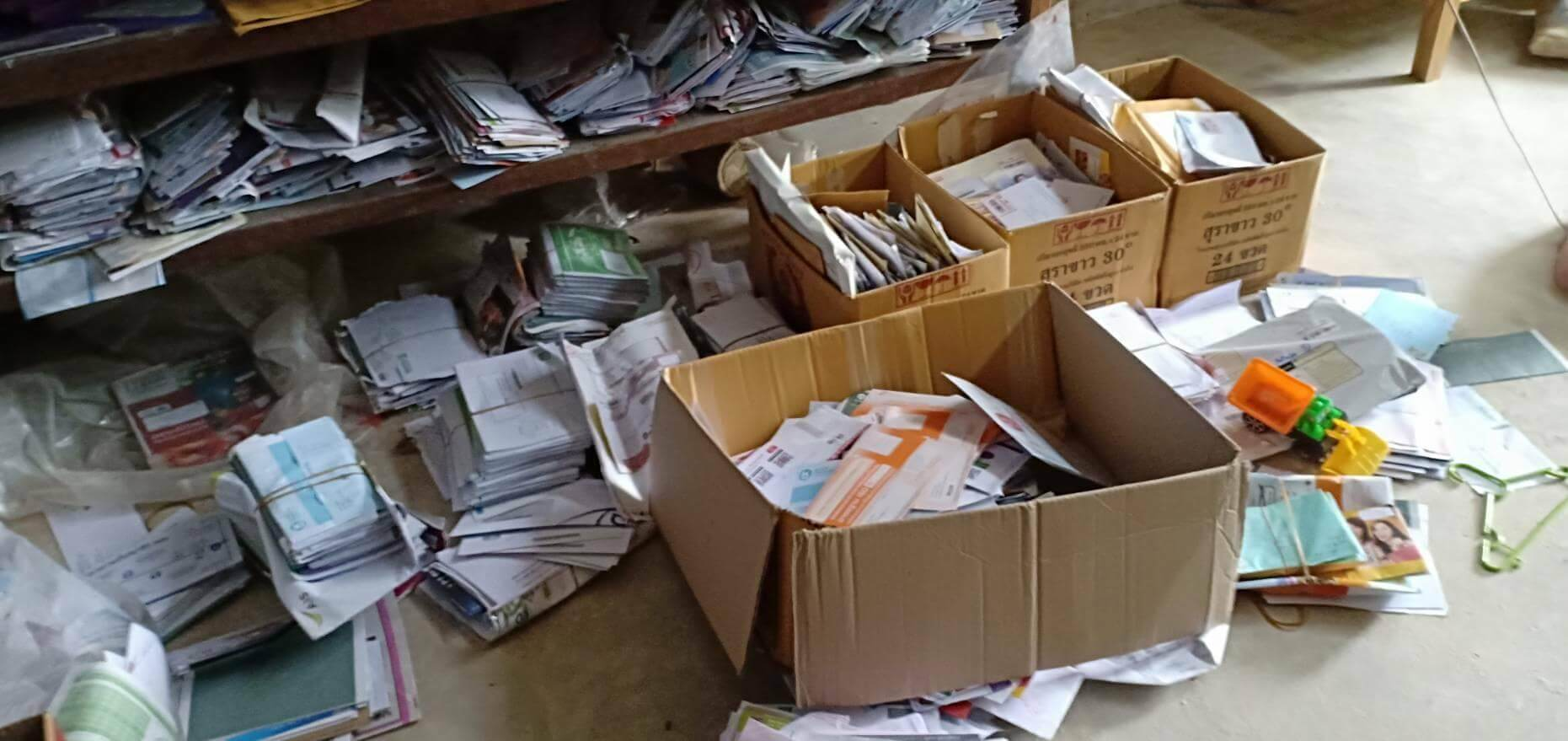 Thousands of letters discovered in postman's home