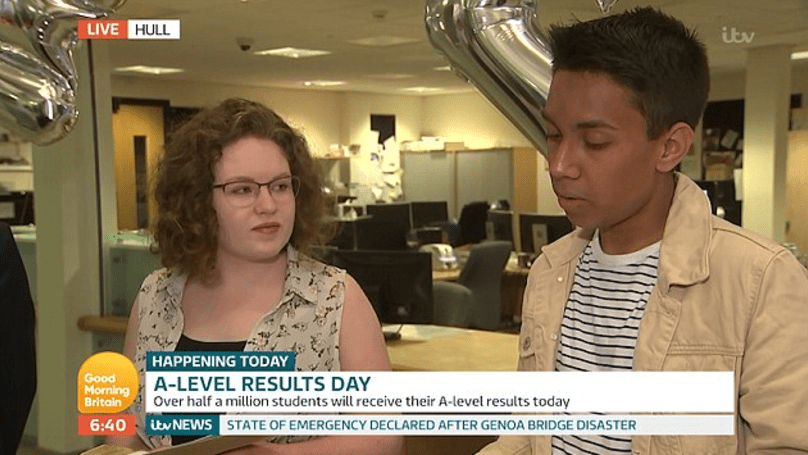 Video: Student Discovers That He Didn't Get His Grades – Live On National TV