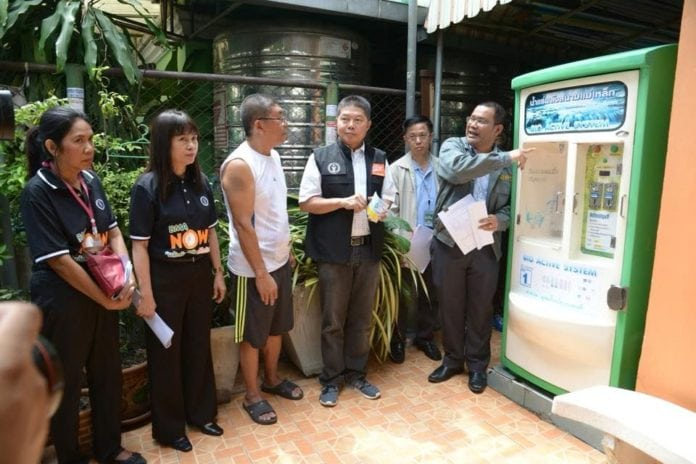 Safely Registered: Licences for only 160 drinking water dispensing machines in Bangkok.
