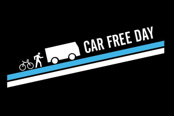 Big supporters hit the streets for Car Free Day bike ride