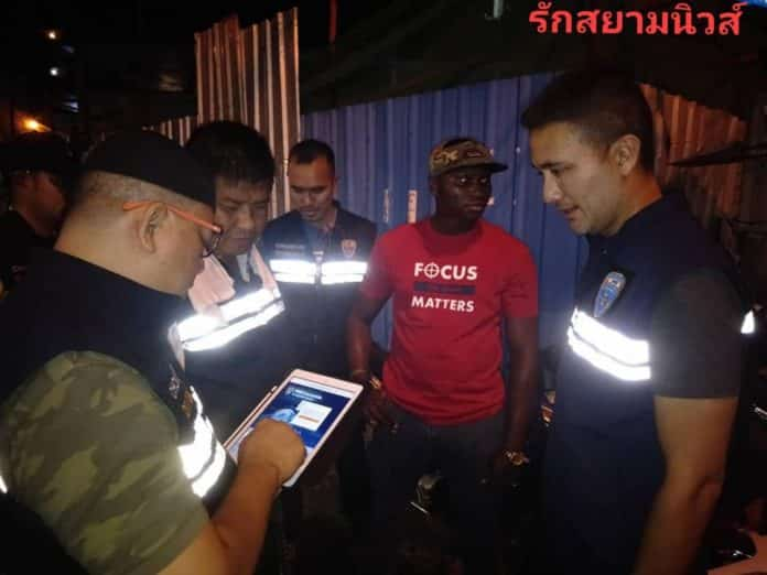 Video: African tourist arrested in Pattaya for not carrying his passport