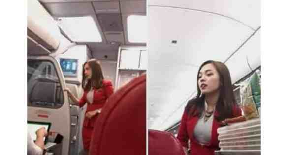 Hot : AirAsia flight attendant 'soaring high' after FB post. Mabel Goo was just going about her duties as an AirAsia flight attendant during a flight