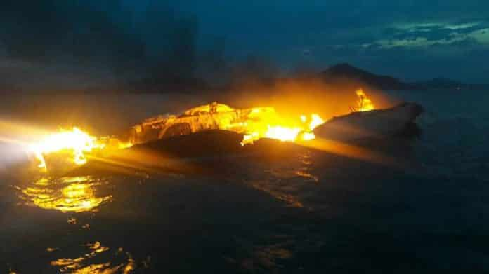 British Tourists rescued in Phuket after yacht burns