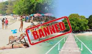 Thailand island to FINE tourists for carrying this common. TOURISTS heading to the popular Thailand island of Koh Samet will need to remove a particular