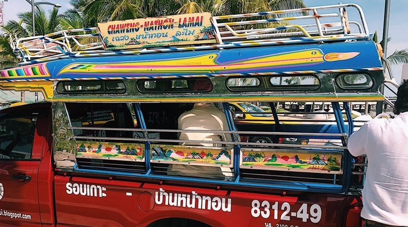 Foreign exchange student fight with Songthaew driver in Koh Samui
