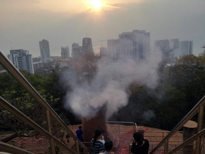 Pattayans gripe about smoke from incense, firecrackers