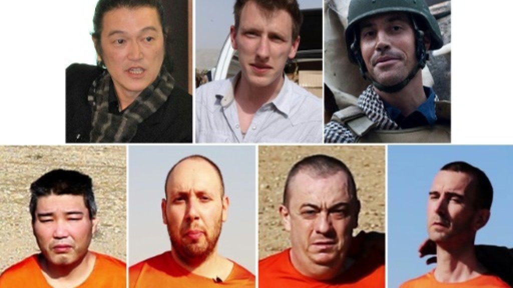 Foreign hostages executed under the IS 'caliphate'