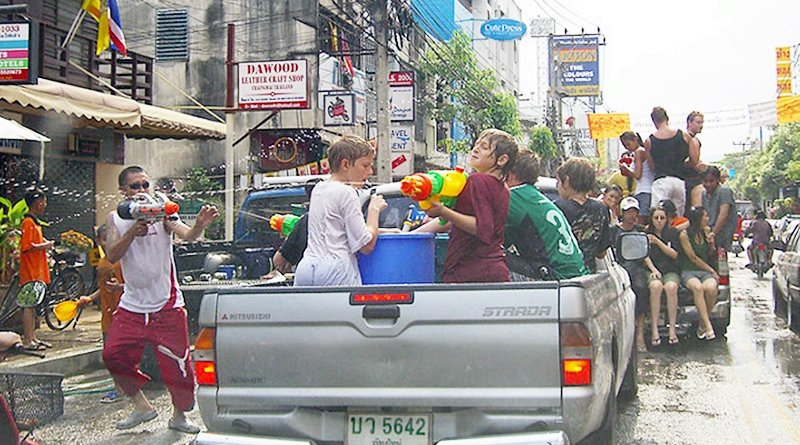 Truck water wars are legal for Songkran 2019
