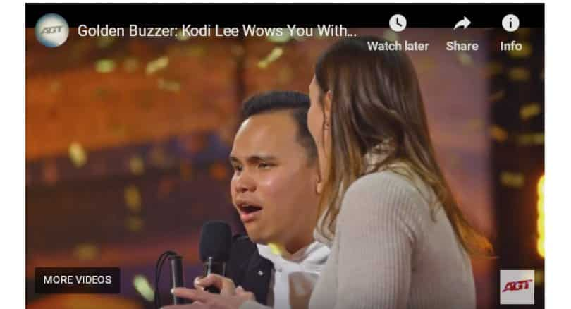 Blind and autistic singer gets Golden Buzzer in 'America's