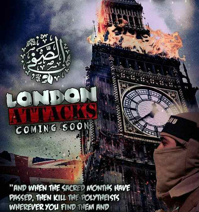 ISIS fanatics depict Big Ben on fire