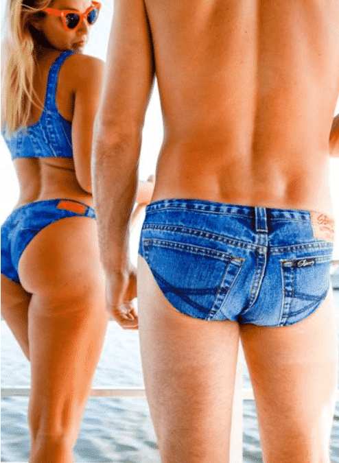 You Can Now Get Denim-Print 'Jeado' Swimming Briefs For Your Next Holiday