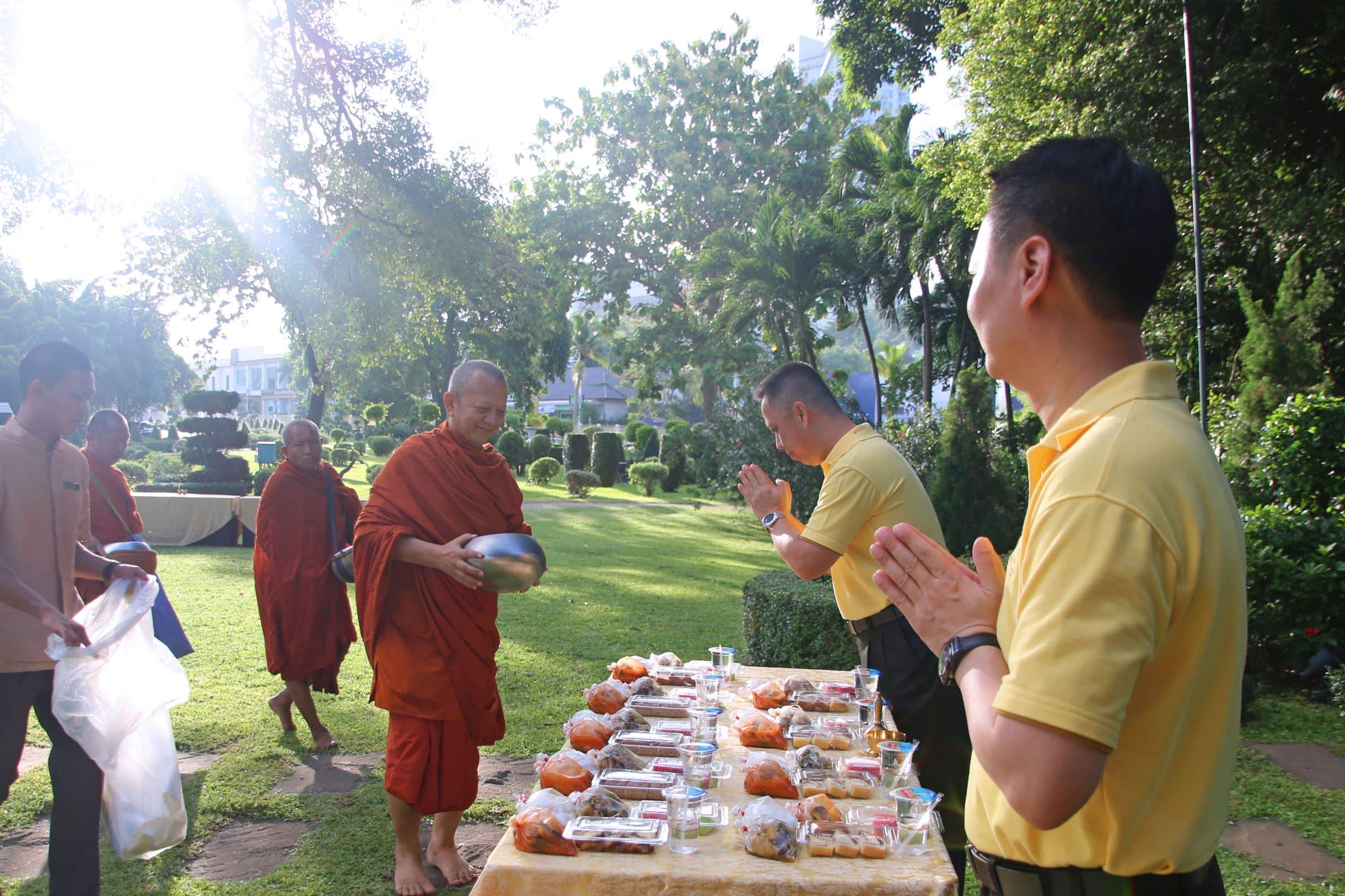 Almsgiving ceremony on the occasion of Her Majesty Queen Suthida's Birthday At the Dusit