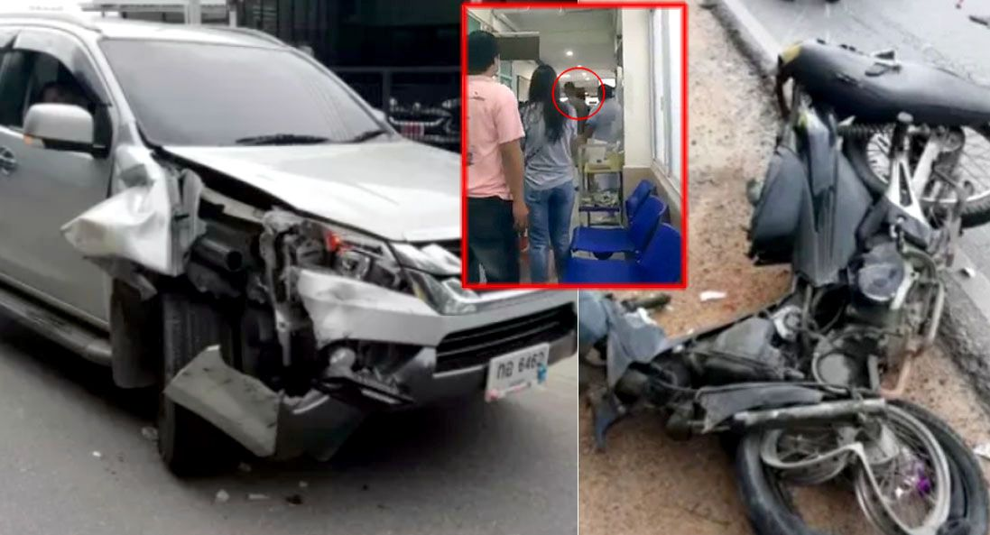 Face-slapping patient returns to same Rayong hospital, this time as road accident victim