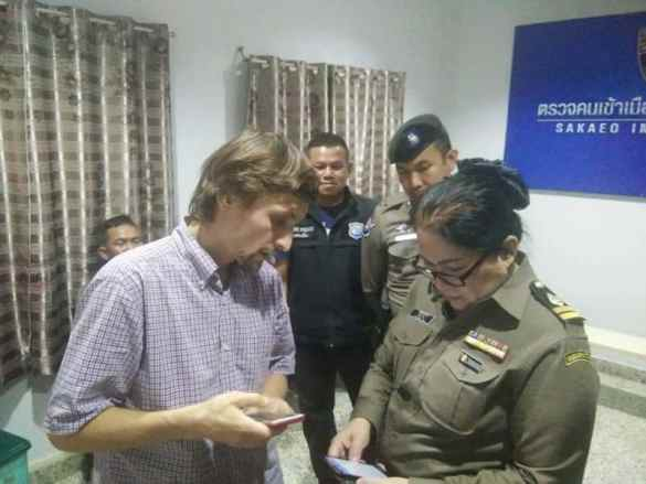 "Russian's attempt to alter VISA STAMP fails at the border. Russian used pen to change his visa stamp after ""losing track of the time"" with Thai girlfriend"