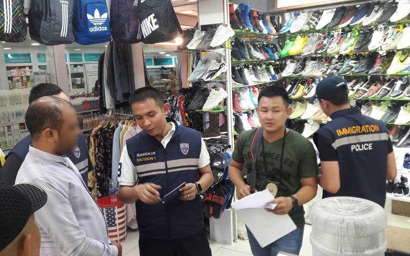 Immigration police holding random checks in Bangkok