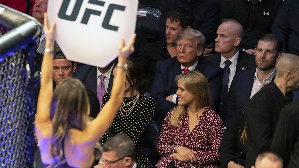 Trump booed, cheered at UFC fight in New York City