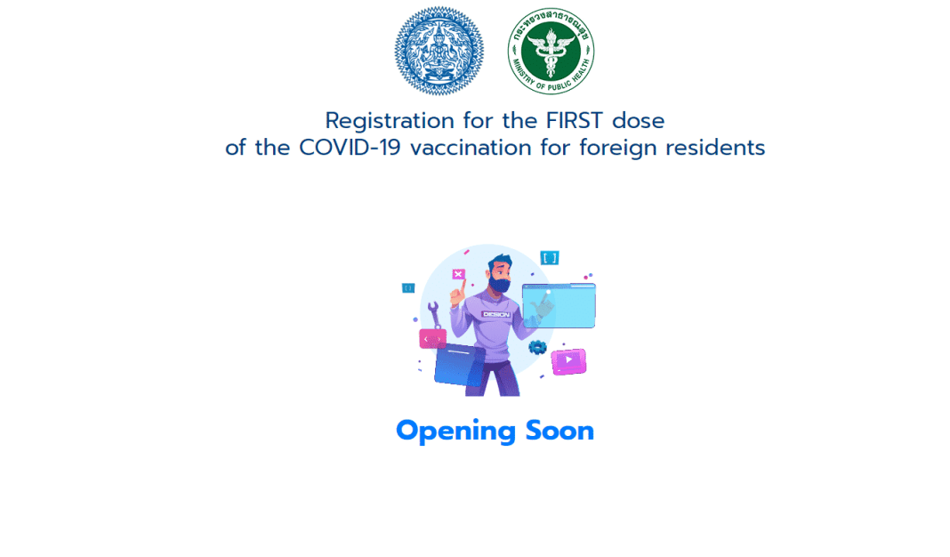 Thailand launches new registration website Covid19 vaccinations expats opened