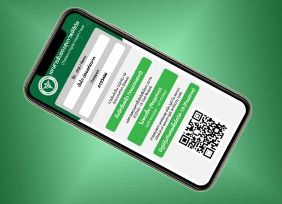 digital health pass Covid19 safety also been launched Thailand