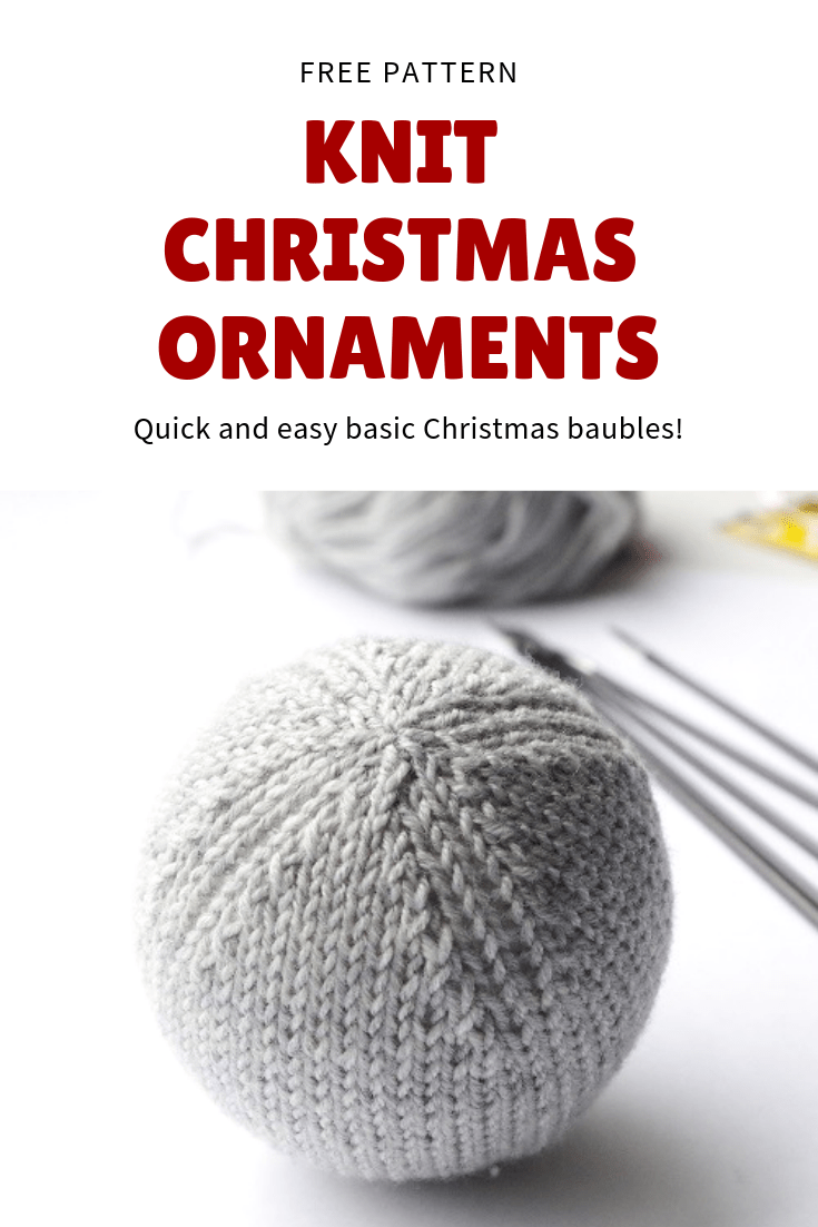 Easy Knit Christmas Ornaments