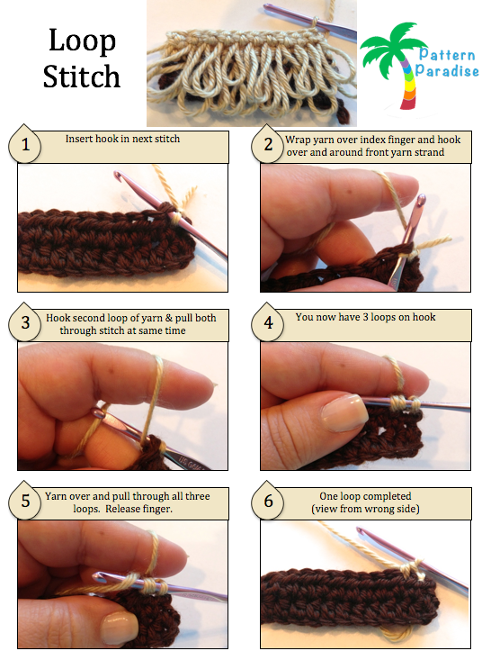 Tutorial: Loop Stitch Crochet by Pattern - Paradise