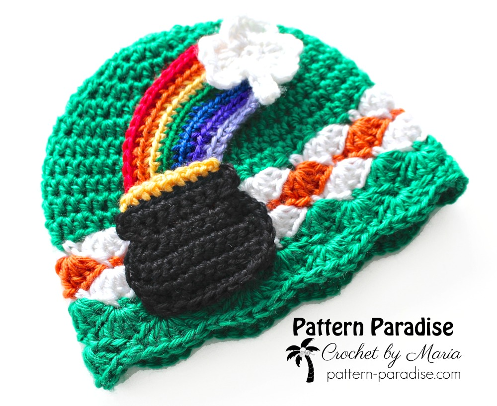 Free Crochet Pattern - Pot \'o Gold St. Patrick\'s Day Hat