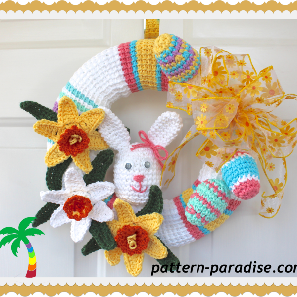 FREE CROCHET PATTERN – Spring Wreath!