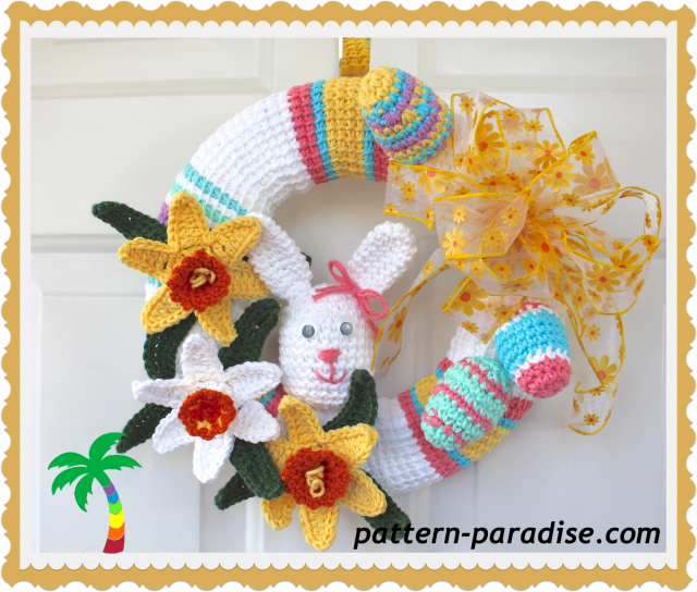 printable easter wreaths free crochet pattern wreath pattern paradise 2763