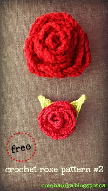 oombawka free+crochet+rose+pattern+large+and+small+roses