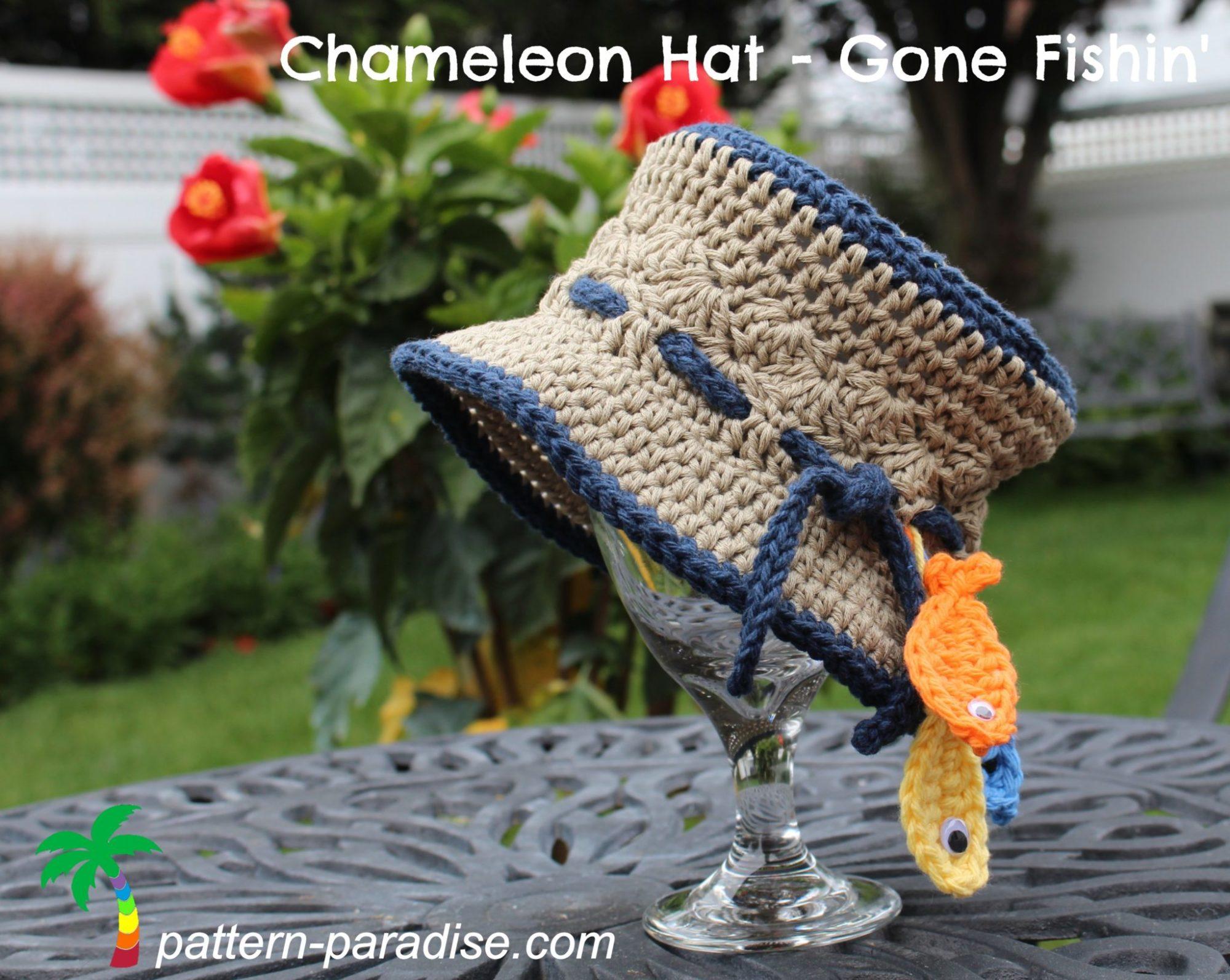 FREE Crochet Pattern - Chameleon Hat - Gone Fishin\' | Pattern Paradise