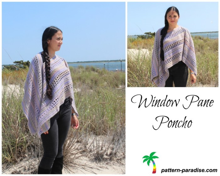 Window Pane Poncho