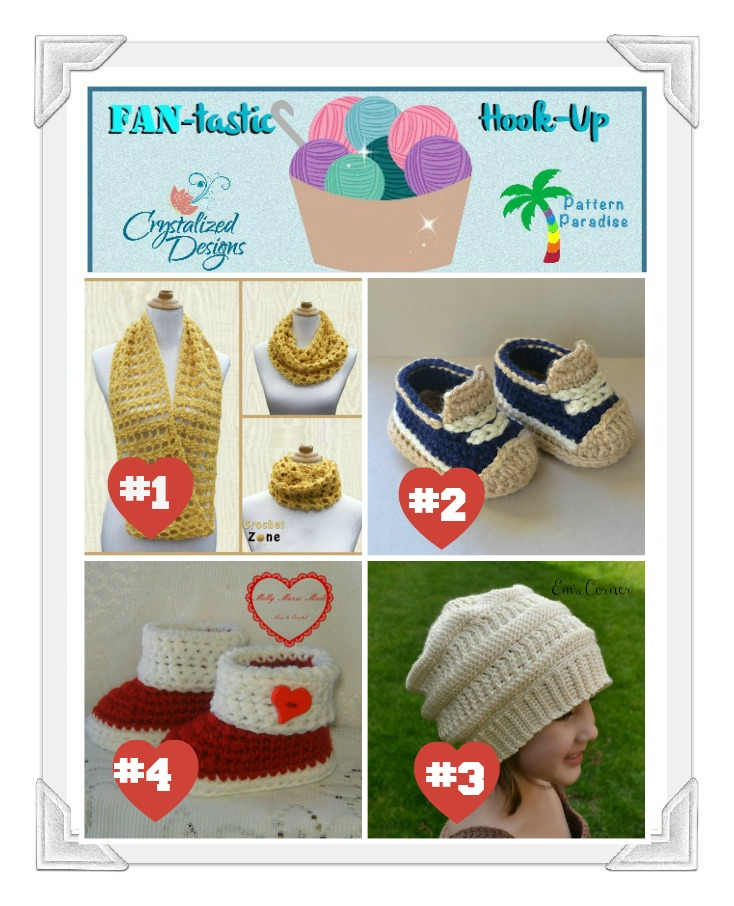 Fantastic Hook Up #17. Share your projects in this fun link party! #crochet #handmade #FantasticHookup #patternparadise #crystalizeddesigns