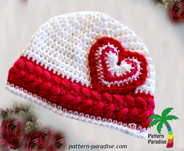 Heart Cherise Hat with logo