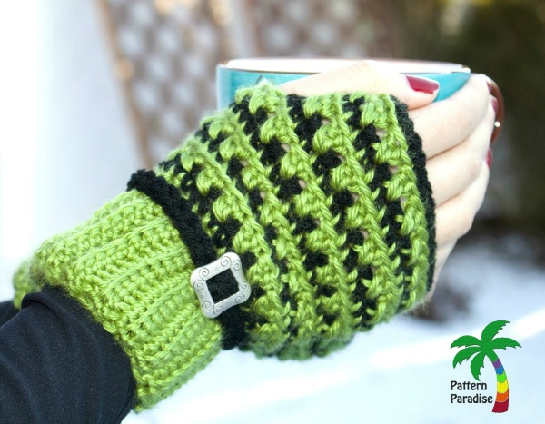 FREE Crochet Pattern – X Stitch Challenge Fingerless Gloves