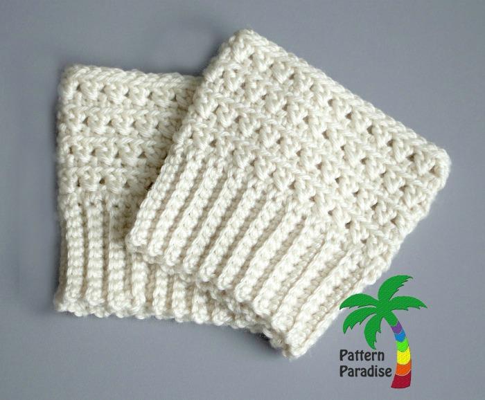 Free Crochet Pattern X Stitch Challenge Boot Cuffs Pattern Paradise