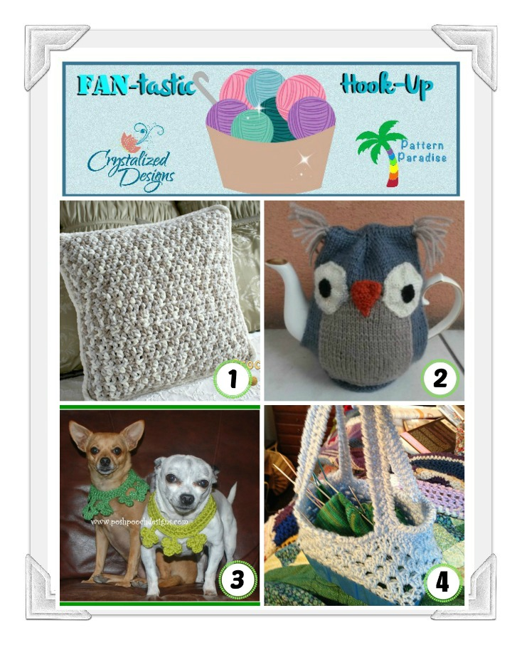 Link your projects to the FAN-tastic Hook-Up Crochet Link Party by Pattern Paradise & Crystalized Designs #crochet #linkparty