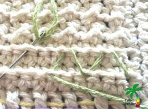 Zig Zag Weaving Free Crochet Pattern MOMogram Dishtowel by Pattern-Paradise.com