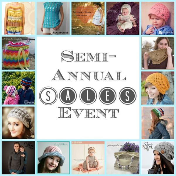 Semi Annual Crochet Pattern Sale at Pattern-Paradise.com