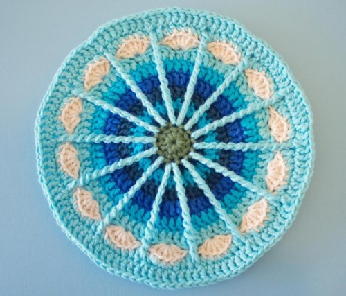 Of course she is well known for her mandalas and this is just one of my favorites.