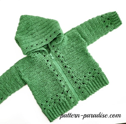 Crochet Pattern Double Trouble Hoodie Sweater by Pattern-Paradise.com