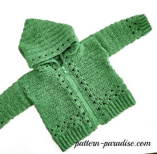 Crochet Pattern Double Trouble Hoodie Sweater by Pattern-Paradise.com