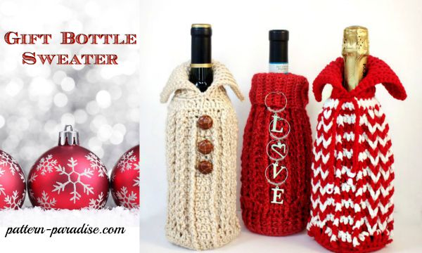 Gift Bottle Sweater for pattern cover