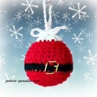 Santa Crochet Christmas Tree Ornaments by Pattern-Paradise.com