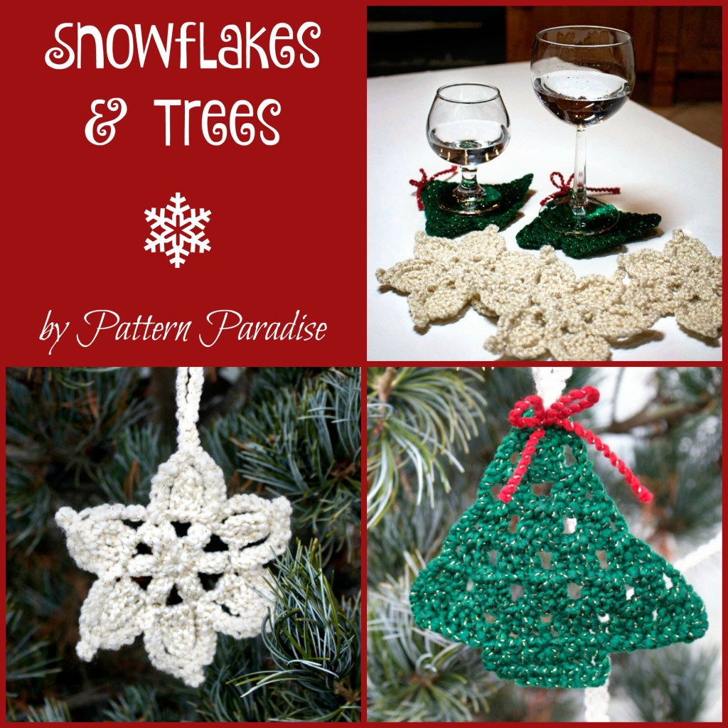 Snowflakes and Trees by Pattern-Paradise.com