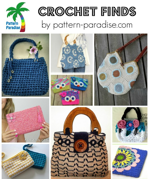 Crochet Finds - All about Bags - Free Patterns by Pattern-Paradise.com