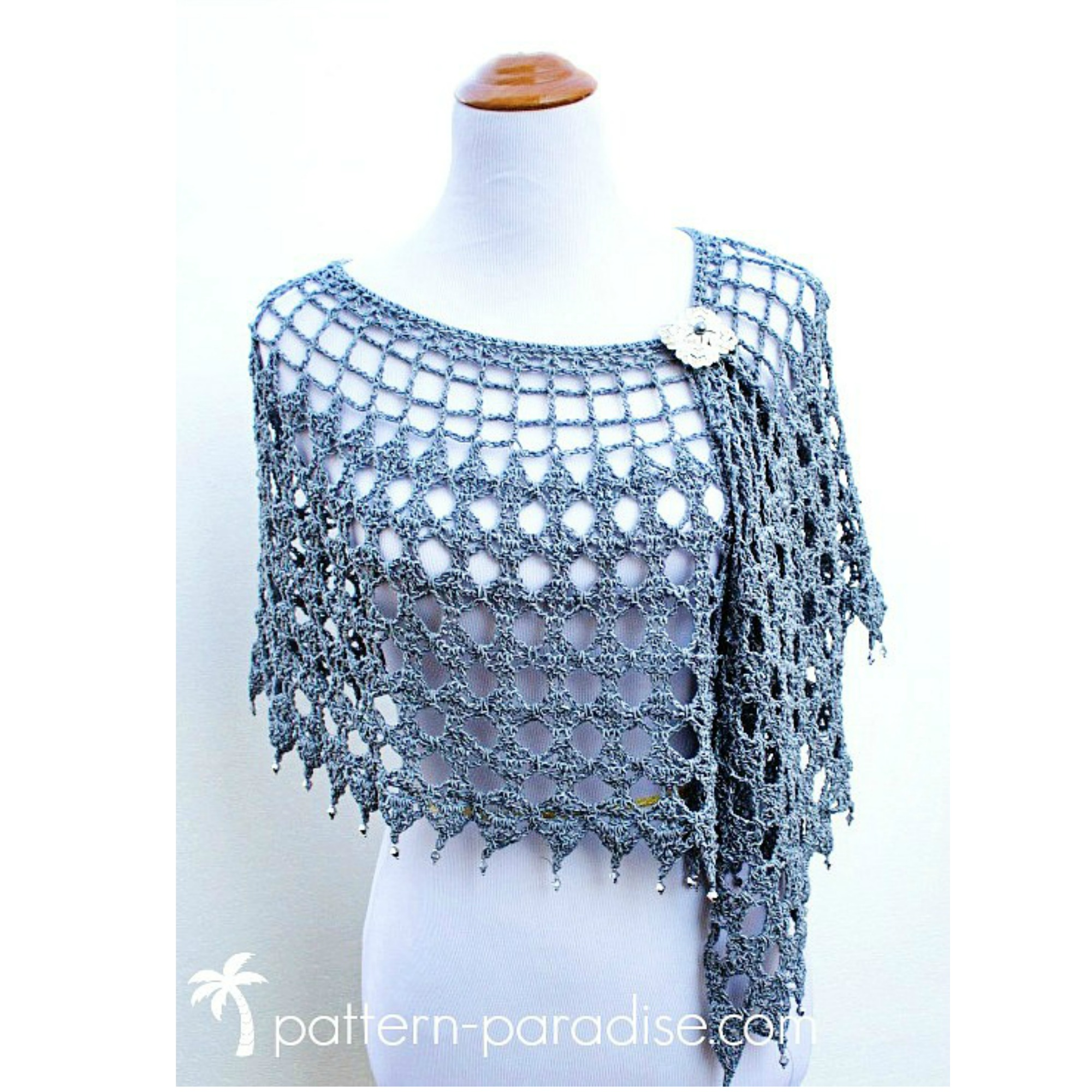 Evening Shimmer Wrap by Pattern-Paradise.com
