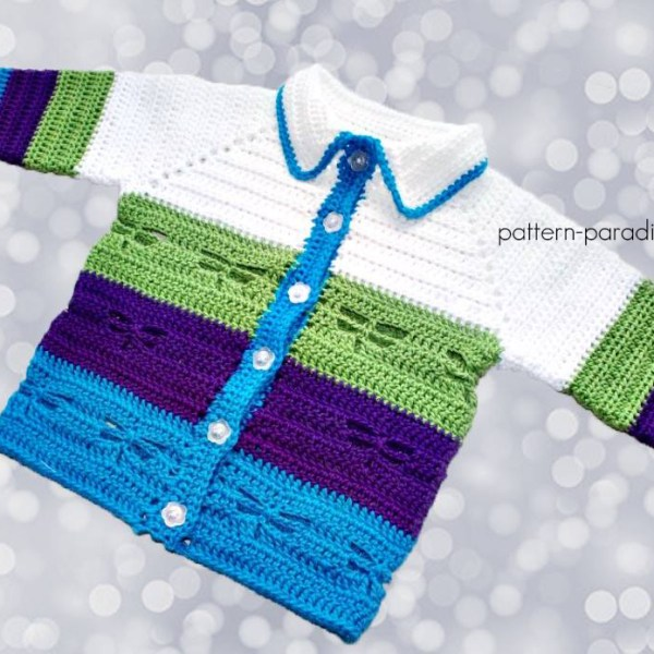 Free Crochet Pattern: Dragonfly Jacket