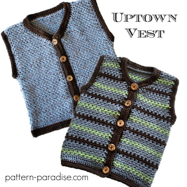 Crochet Pattern: Uptown Sweater Vest